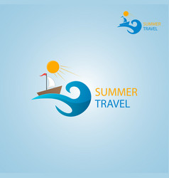 summer travel logo vector image