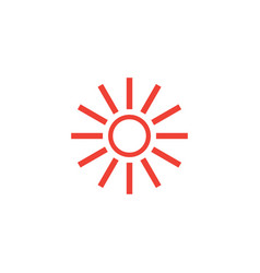 Sun hot icon graphic design template vector