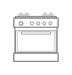 symbol of gas stove color line art vector image