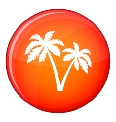 Two palms icon flat style vector