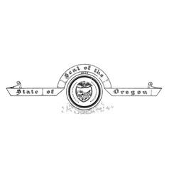 united states seal oregon vintage vector image