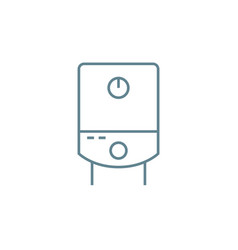 Water heater linear icon concept water heater vector