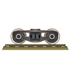 Wheels and bogie vector image