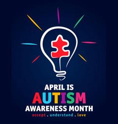 World autism awareness vector