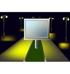 Billboard and night highway vector image vector image