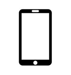 black icon tablet cartoon vector image