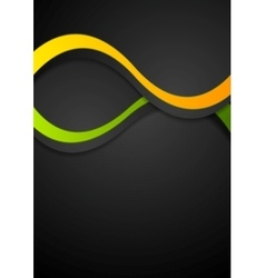 Contrast abstract wavy background vector image