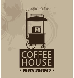 mobile trolley and coffee machine vector image vector image