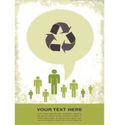retro recycling eco poster vector image vector image