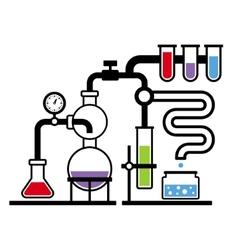 Chemistry laboratory infographic set 3 vector