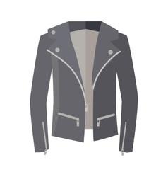 Jacket on Zipper Isolated on White Unisex vector image