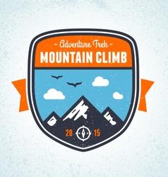 Mountain badge vector image vector image