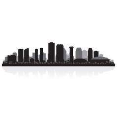 New Orleans USA city skyline silhouette vector image