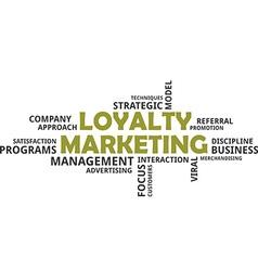 Word cloud loyalty marketing vector