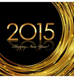 2015 glowing background vector image vector image