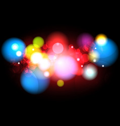 abstract blurred color with bokeh background vector image vector image