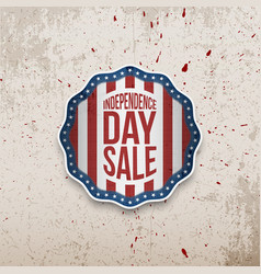 american independence day emblem vector image