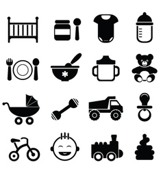 baby Icons vector image vector image