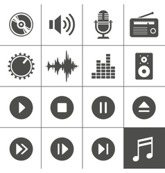 Music and sound icons - Simplus series vector image vector image