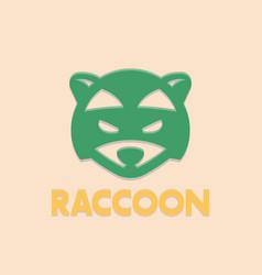 raccoon logo element head of coon vector image