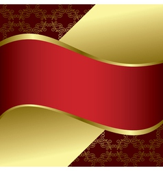 red and gold bright background vector image vector image