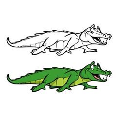 alligator coloring book vector image