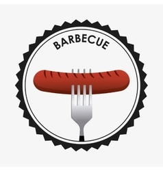 Barbecue seal stamp vector
