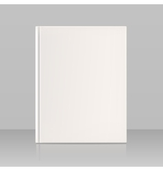 Blank vertical book cover look full face vector image