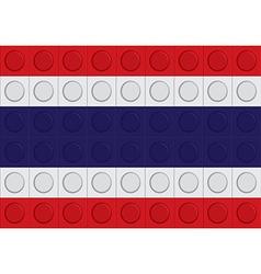 block thailand flag pattern vector image