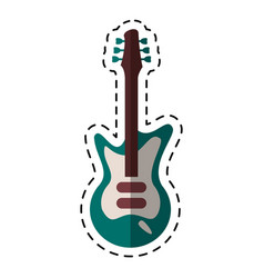 cartoon electric guitar musical instrument vector image