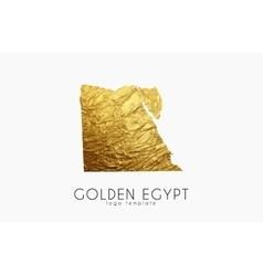 Egypt map Golden Egypt logo Creative Egypt logo vector image vector image