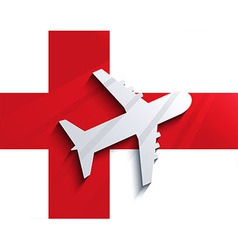 flag with airplane Travel background Eps 10 vector image vector image