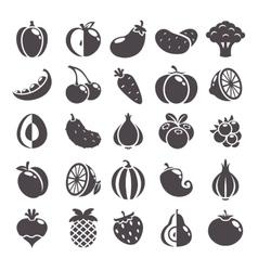 Gray icons set vector image