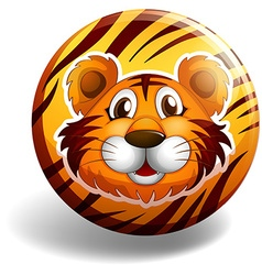 Tiger badge vector image vector image