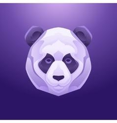 Vintage panda label Retro design graphic vector image