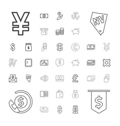 37 cash icons vector