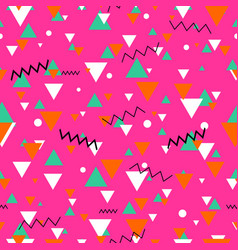 80s or 90s tile pink pattern vector