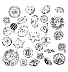 a set of different buttons vector image