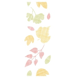 Abstract textile texture fall leaves vertical vector