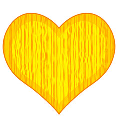 abstract wood heart vector image