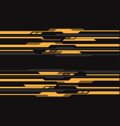 abstract yellow grey cyber circuit pattern banner vector image