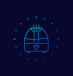Air humidifier icon thin line design vector