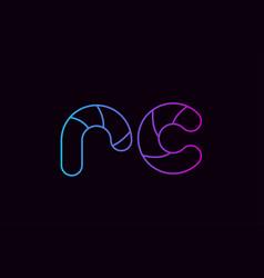 Alphabet letter combination rc r c logo company vector