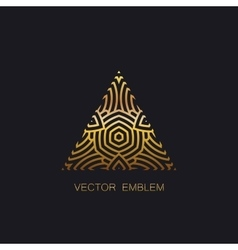 art-deco golden emblem vector image