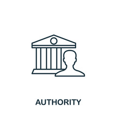 Authority outline icon thin line concept element vector
