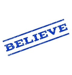 Believe Watermark Stamp vector image