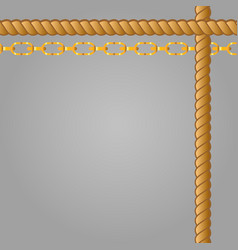 Belts chain and braid vector
