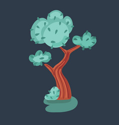 big green tree isolated on vector image