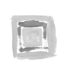 black halftone square design element vector image