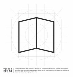 Brochure flyer icon vector